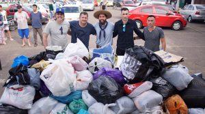 Gaúcho organiza futebol solidário e arrecada 1.500 peças de agasalhos