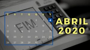 Calendário Eleições 2020 – Mês Abril