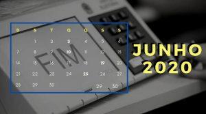 CALENDÁRIO ELEITORAL – Mês Junho