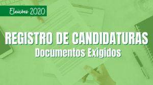 Documentação exigida para o registro de candidaturas
